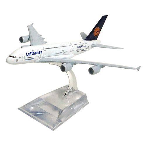 Miniatura Airbus A380-800 Lufthansa - 16 Cm