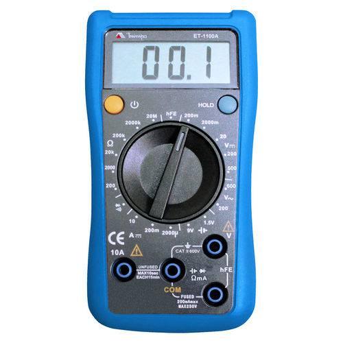 Minipa Et-1100a Multimetro Digital 3 1/2d. Teste de Bateria