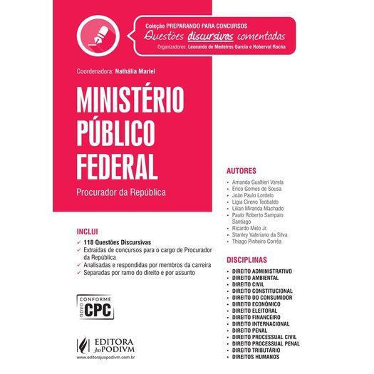 Ministerio Publico Federal - Provas Discursivas Comentadas - Juspodivm