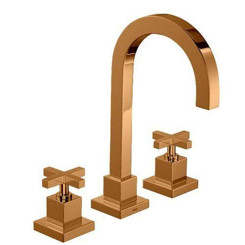 Misturador Re Gold Lavatório Deca Mesa Duna Quadratta 1877.GL94.Rd