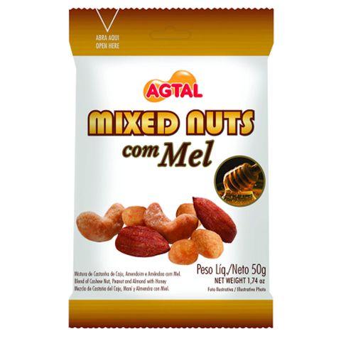 Mixed Nuts com Mel 50g - Agtal