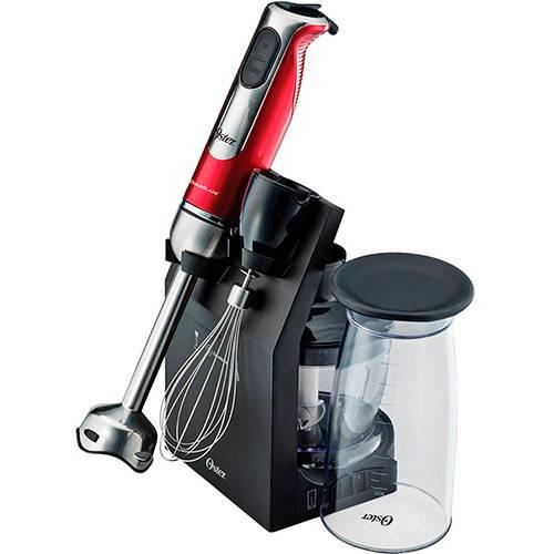 Mixer Oster High Power 3 em 1 com Suporte Vermelho