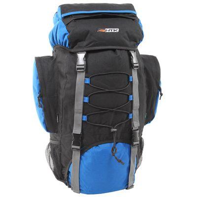 Mochila Cargueira NTK com Capacidade para 60 Litros e Ajuste Lombar e Peitoral Intruder Azul e Preto