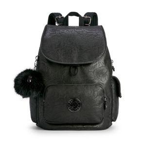 Mochila City Pack S Preta Black Foam Kipling