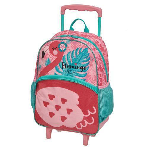 Mochila com Rodinha Pack me Flamingo G - Pacific