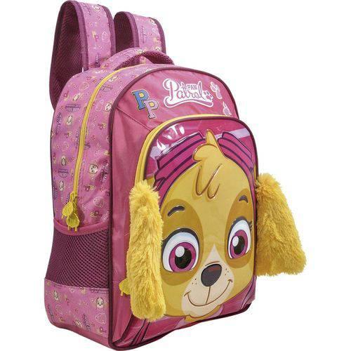 Mochila Costas Infantil Escolar Patrulha Canina Rosa Skyie