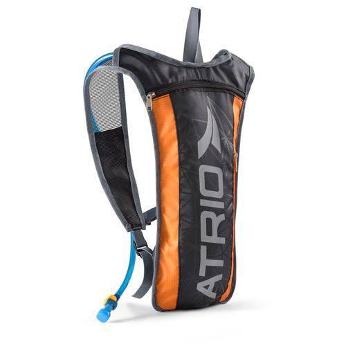 Mochila de Hidratação Preto/Laranja 2 Litros + Compartimento para Objetos Atrio - BI134