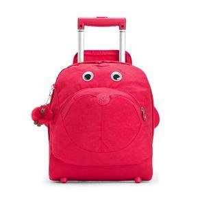 Mochila de Rodinha Infantil Big Wheely Rosa True Pink Kipling
