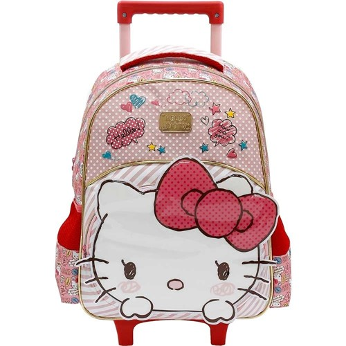 Mochila de Rodinhas Hello Kitty Top Lovely Kitty 7900-Rosa 7900Rosa