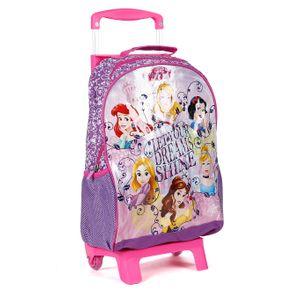 Mochila Escolar Disney Infantil para Menina - Lilás