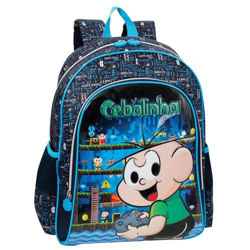 Mochila Escolar Infantil Cebolinha Pacific Azul
