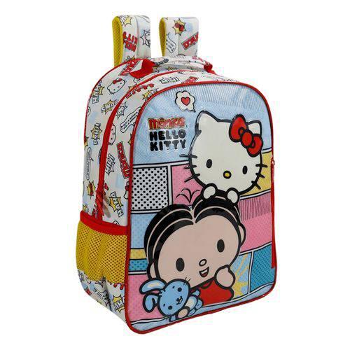 Mochila Escolar Infantil Xeryus Hello Kitty e Mônica Bff 14 Pol