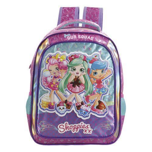 Mochila Escolar Shoppies Sweet Friends 14 Roxa Xeryus