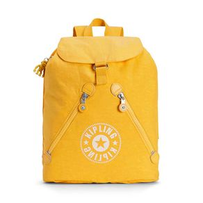 Mochila Fundamental Amarela Lively Yellow Kipling