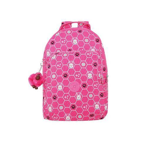 Mochila Gouldi Rosa Pink Dog Tile Kipling