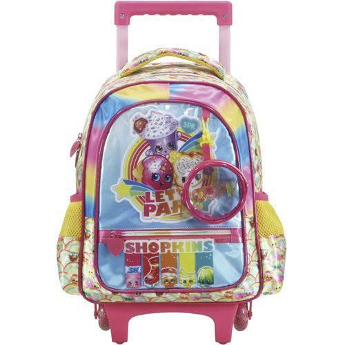 Mochila Infantil de Rodinhas Shopkins Rainbow Party Grande Ref. 6810 - Xeryus