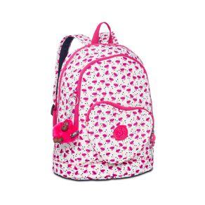 Mochila Infantil Heart Backpack Branca e Rosa Pink Wings Kipling