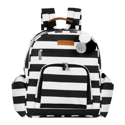 Mochila Maternidade Noah Brooklyn Black And White - Masterbag