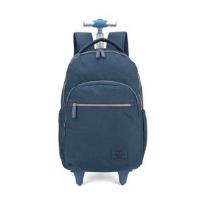 Mochila Up4you Crinkle com Rodas Azul Mochila Up4you Crinkle com Rodas Azul