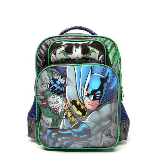 Mochila Xeryus Batman Mad House 16 Preto