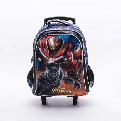 Mochila Xeryus Infantil Avengers Armored Preta Único