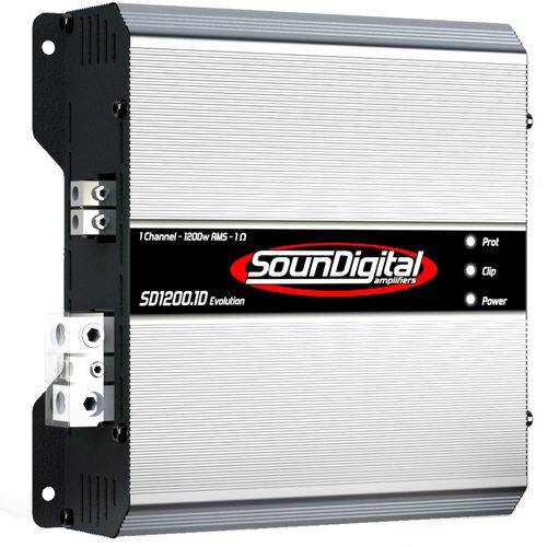 Módulo Amplificador de Som Automotivo Soundigital SD1200.1D EVO 2 Ohms