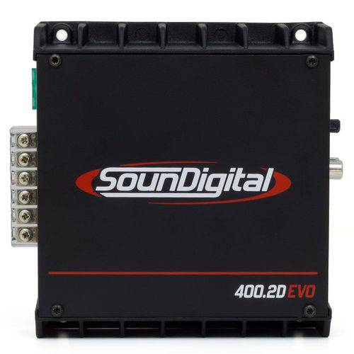 Módulo Amplificador Digital SounDigital SD400.2D EVO II Black - 522 Watts RMS - 1 Ohm