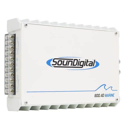Módulo Amplificador Digital SounDigital SD800.4D Marine - 4 Canais - 1044 Watts RMS