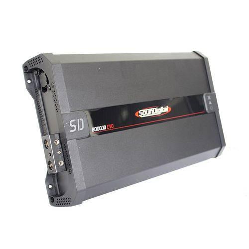 Módulo Amplificador Digital SounDigital SD8000.1D EVO 2.1 Black 1 Canal - 8000 Watts RMS 2 Ohms