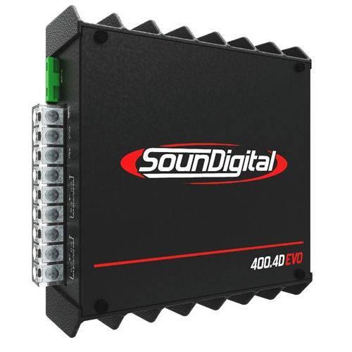 Módulo Amplificador Sd400.4d Evo Ii 4 Canais Soundigital Linha Black