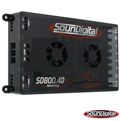Módulo Amplificador Soundigital Sd 800.4 800w Rms 4 Canais de 200w Rms