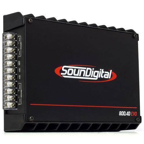 Módulo Amplificador Soundigital Sd800.4d Evo 2 1044w 2 Ohms