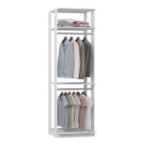 Módulo Closet com Cabideiros Clothes Be Mobiliário Branco