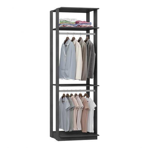 Módulo Closet com Cabideiros Clothes Be Mobiliário Espresso