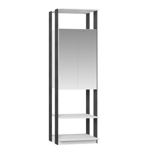 Módulo Closet com Espelho 2 Portas Clothes Be Mobiliário Branco/Espresso