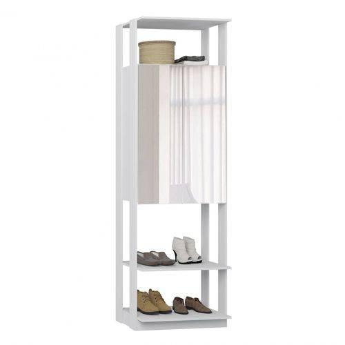 Módulo Closet com Espelho 2 Portas Clothes Be Mobiliário Branco