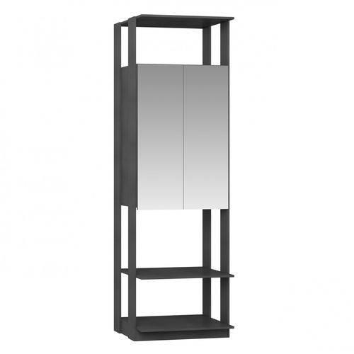 Módulo Closet com Espelho 2 Portas Clothes Be Mobiliário Espresso