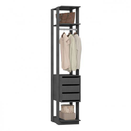 Módulo Closet 3 Gavetas e Cabideiro Clothes 410 Be Mobiliário Espresso