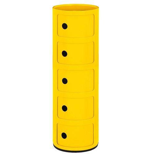 Módulo Componibili 5 Andares - Amarelo
