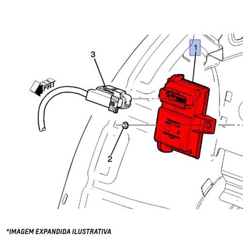 Módulo de Subida Vidros - 12571003 Cruze