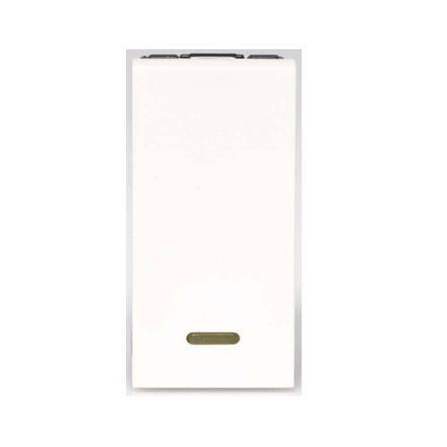 Módulo Interruptor Simples Arteor Branco com Led 582501b Pial