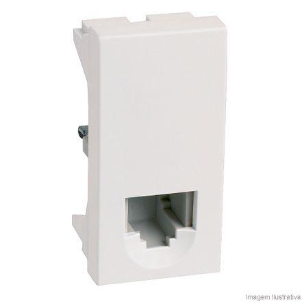 Módulo para Tomada de Telefone RJ11 Branco Pialplus Pial
