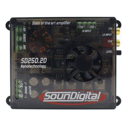Módulo Soundigital 250 Rms Sd-250.2D Stereo Digital 2 Ohms
