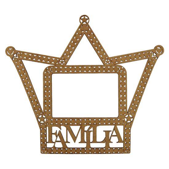 Moldura Coroa para Foto Família em MDF 29,7x34,2cm - Palácio da Arte