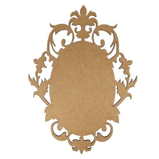 Moldura em MDF Oval Lisa 40x29cm Francesa - Palácio da Arte
