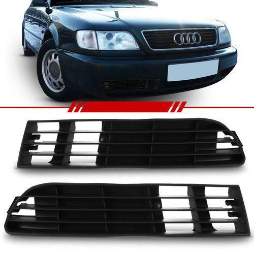 Moldura Grade do Milha Audi A6 1995 a 1997 Sem Furo Lado Direito + Lado Esquerdo