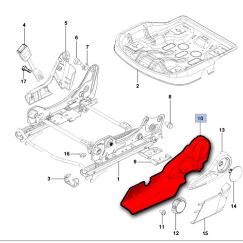 Moldura Lateral Lado Esquerdo do Banco Motorista 52028925 Cobalt