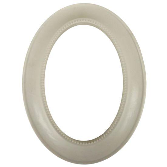 Moldura Oval com Borda e Pérolas 20x25 - Resina