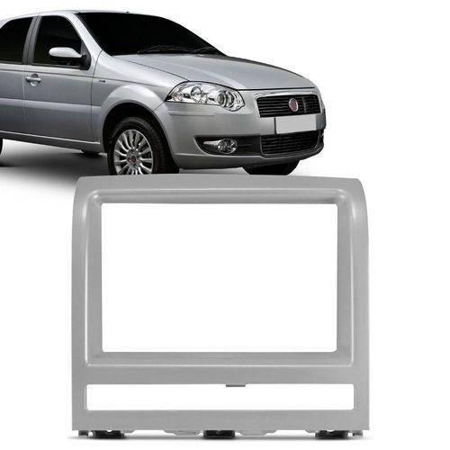 Moldura Painel 2 Din Fiat Palio Strada Adventure Idea Siena Prata