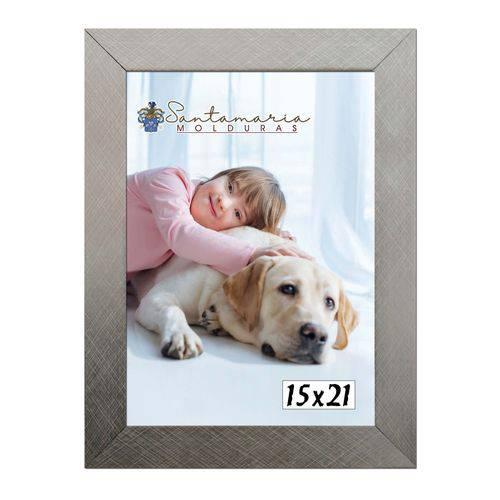 Moldura Porta Retrato 15x21 Prateado